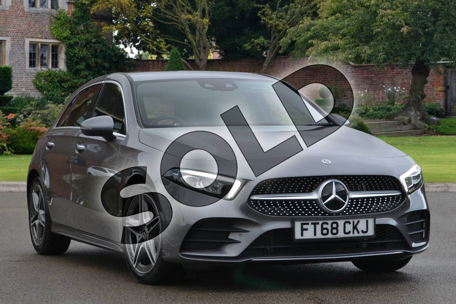 2018 Mercedes-Benz A Class Diesel Hatchback A180d AMG Line Executive 5dr Auto in Mountain Grey Metallic at Mercedes-Benz of Lincoln