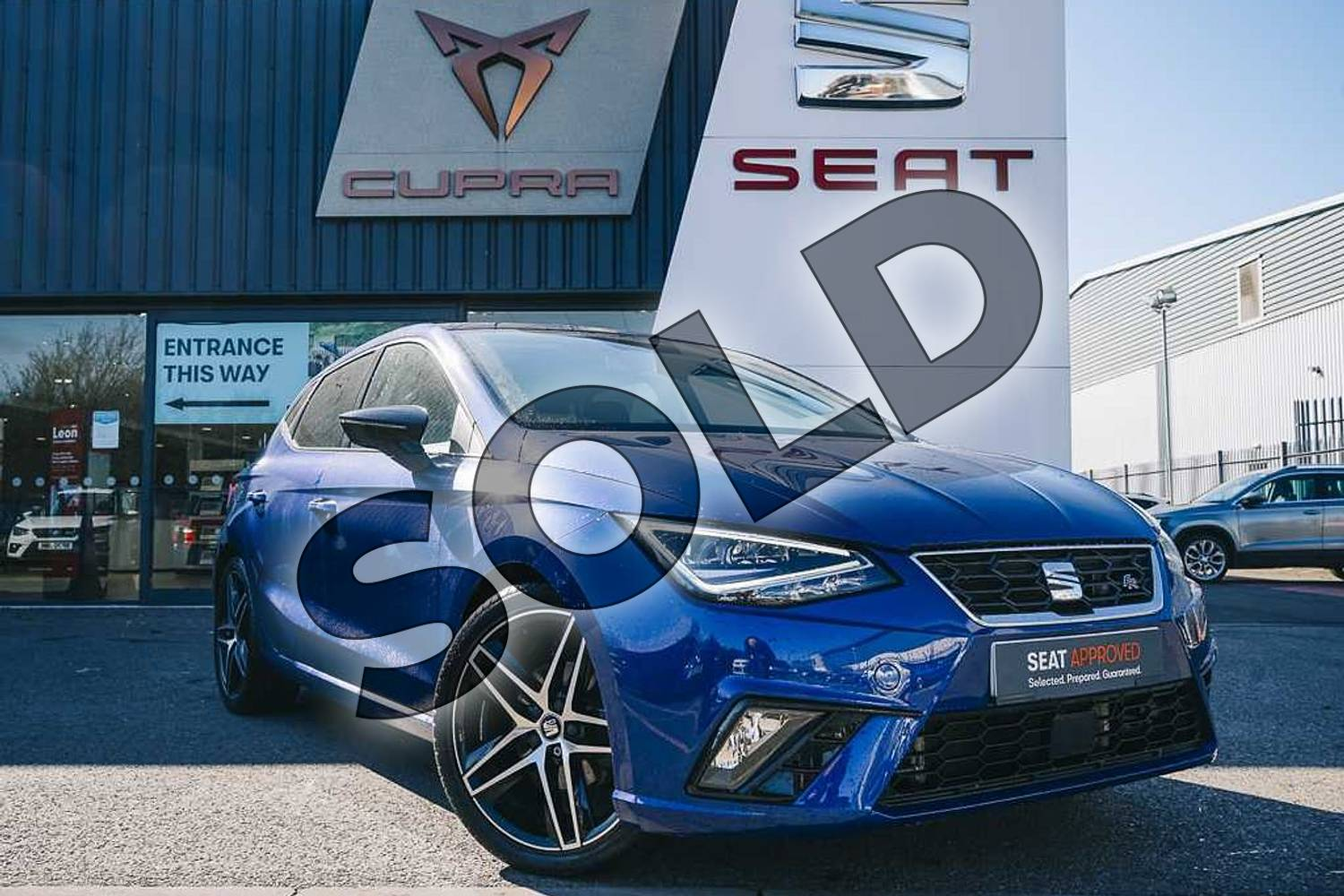 2018 SEAT Ibiza Hatchback 1.0 TSI 115 FR 5dr in Blue at Listers SEAT Coventry