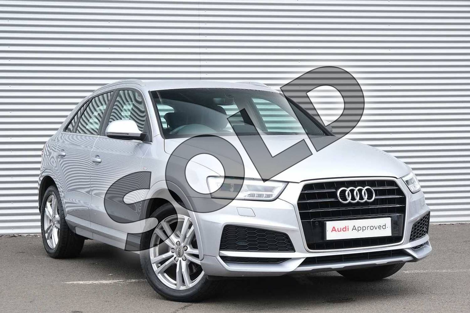2017 Audi Q3 Estate Special Editions 1.4T FSI S Line Edition 5dr in Floret Silver Metallic at Coventry Audi