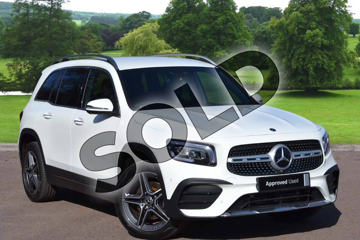 2021 Mercedes-Benz GLB Diesel Estate GLB 200d 4Matic AMG Line Premium 5dr 8G-Tronic in Polar White at Mercedes-Benz of Grimsby