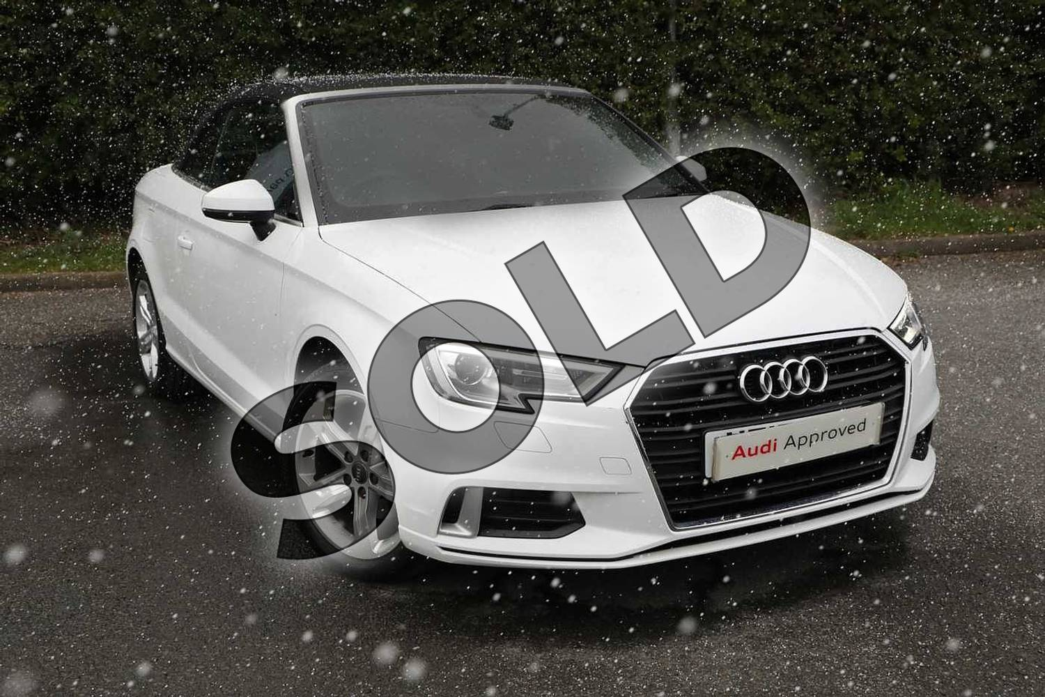 2017 Audi A3 Diesel Cabriolet 1.6 TDI Sport 2dr in Ibis White at Worcester Audi