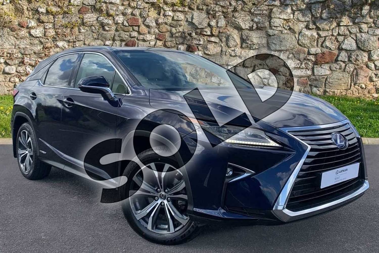 2018 Lexus RX 450h 3.5  4X4 Pan Roof  Luxury Panroof in Deep Blue at Lexus Coventry