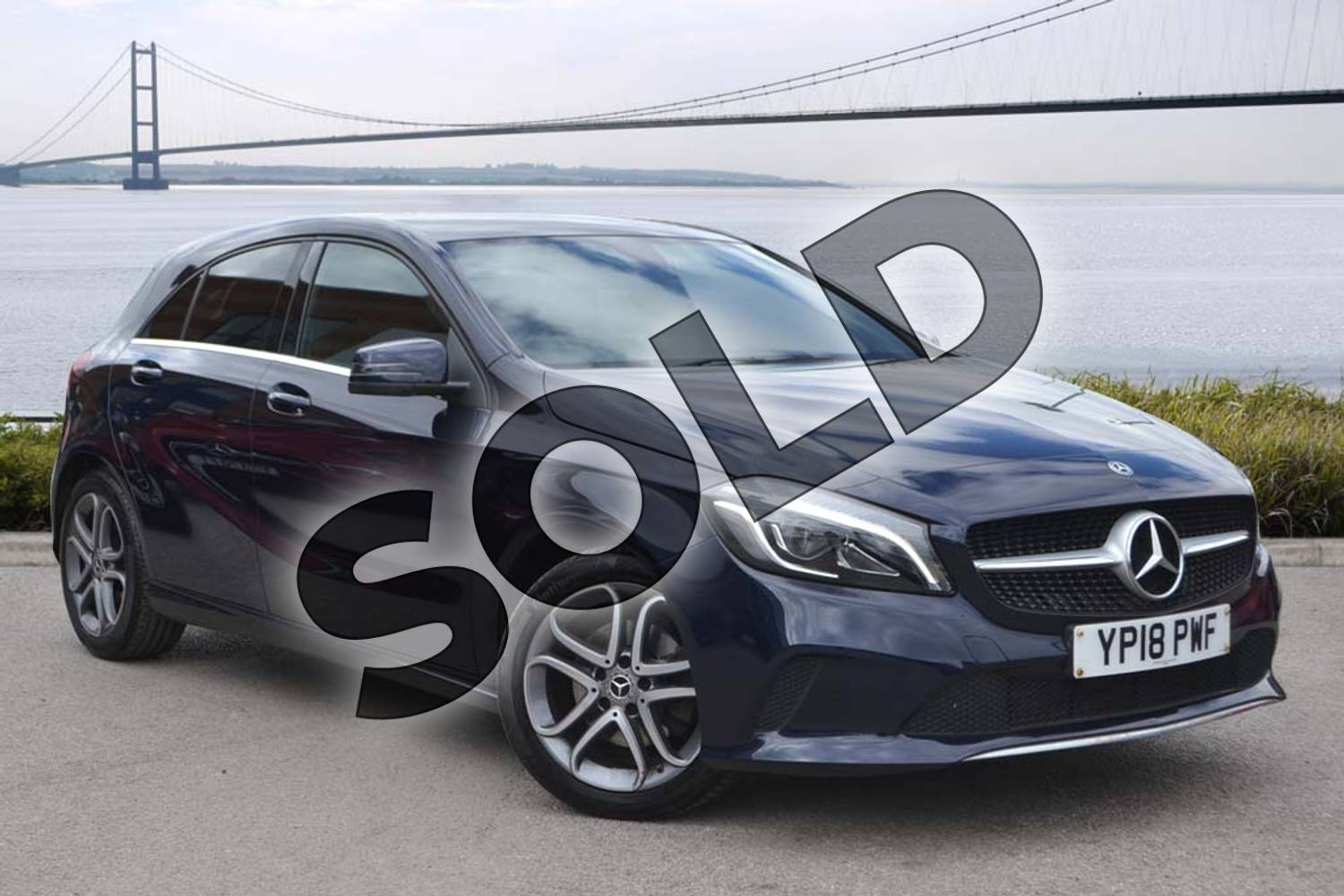 2018 Mercedes-Benz A Class Hatchback A180 Sport Edition 5dr in Cavansite Blue metallic at Mercedes-Benz of Hull