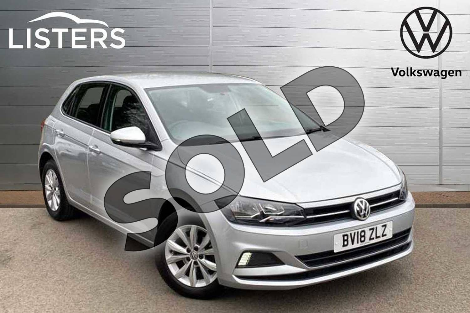 2018 Volkswagen Polo Hatchback 1.0 TSI 95 SE 5dr in Reflex silver at Listers Volkswagen Coventry