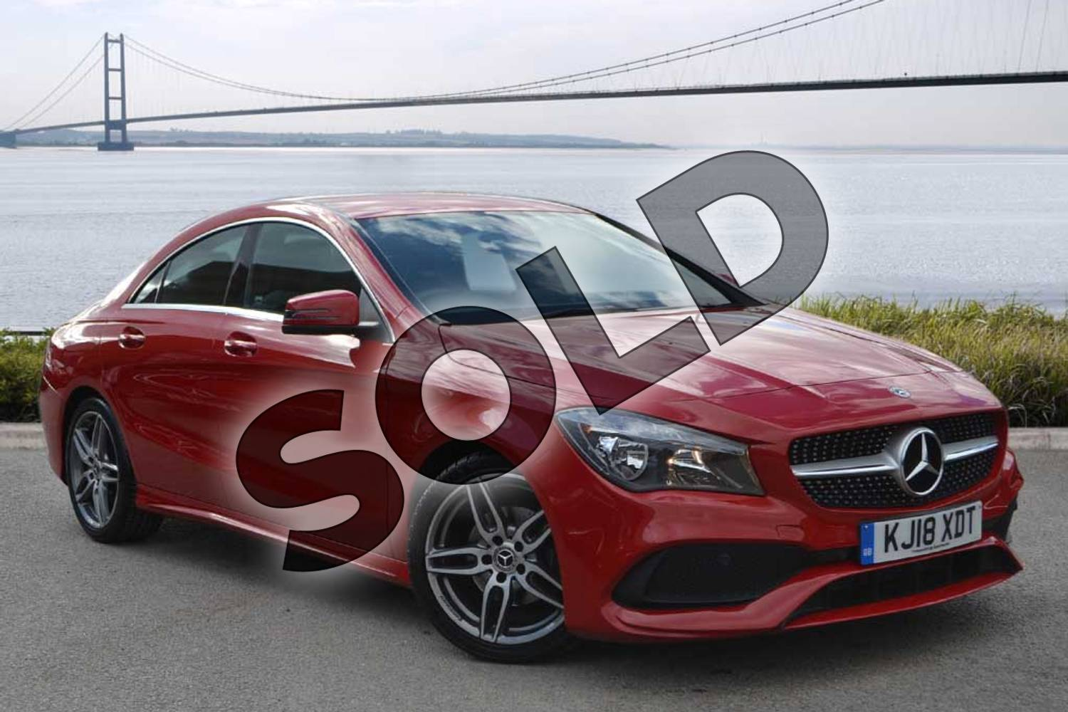 2018 Mercedes-Benz CLA Coupe CLA 180 AMG Line 4dr Tip Auto in jupiter red at Mercedes-Benz of Hull