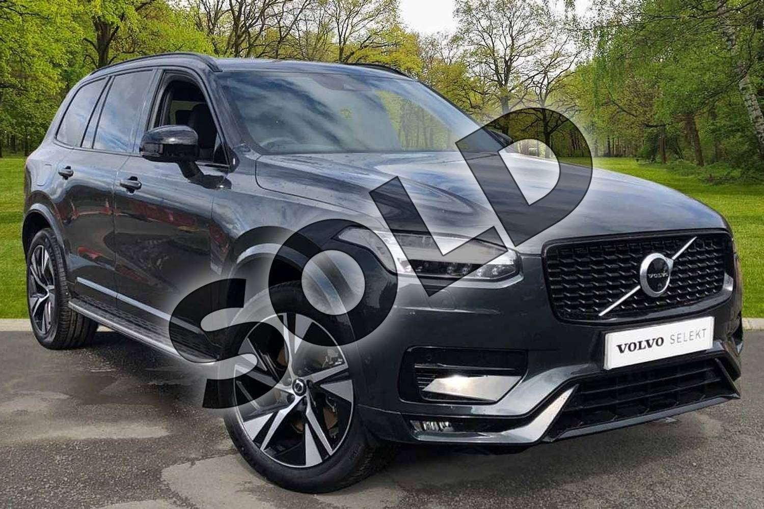 2021 Volvo XC90 Estate 2.0 B5P (250) R DESIGN 5dr AWD Gtron in Savile Grey at Listers Volvo Worcester