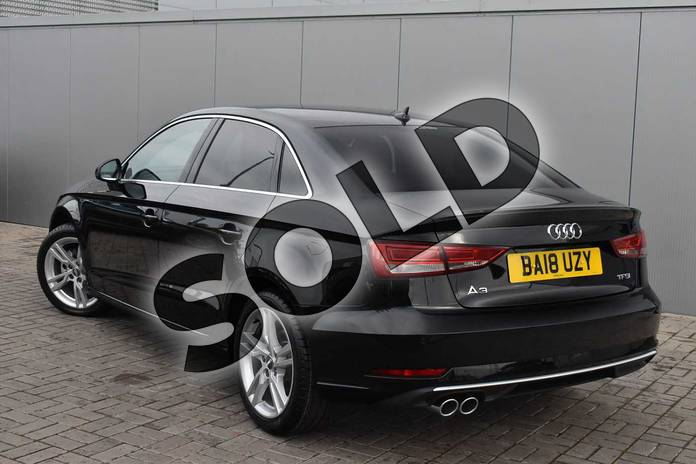 Image three of this 2018 Audi A3 Saloon 1.5 TFSI Sport 4dr in Myth Black Metallic at Stratford Audi