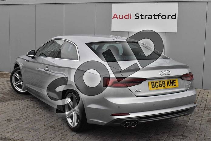 Image three of this 2018 Audi A5 Diesel Coupe Diesel 2.0 TDI S Line 2dr S Tronic in Floret Silver Metallic at Coventry Audi