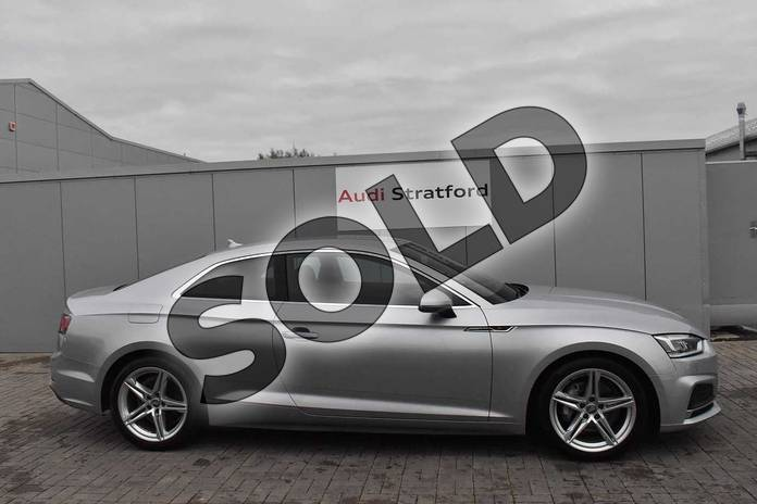 Image four of this 2018 Audi A5 Diesel Coupe Diesel 2.0 TDI S Line 2dr S Tronic in Floret Silver Metallic at Coventry Audi