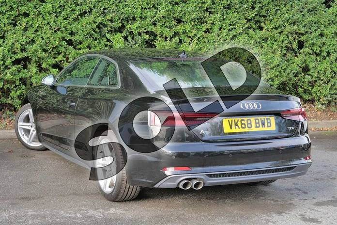 Image three of this 2018 Audi A5 Diesel Coupe Diesel 2.0 TDI S Line 2dr S Tronic in Myth Black Metallic at Worcester Audi