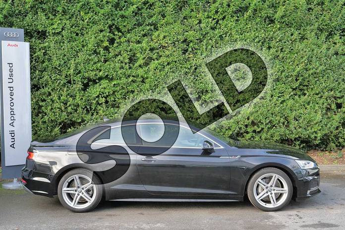 Image four of this 2018 Audi A5 Diesel Coupe Diesel 2.0 TDI S Line 2dr S Tronic in Myth Black Metallic at Worcester Audi