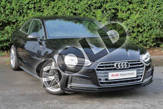 Picture of Audi A5 Diesel 2.0 TDI S Line 2dr S Tronic in Myth Black Metallic