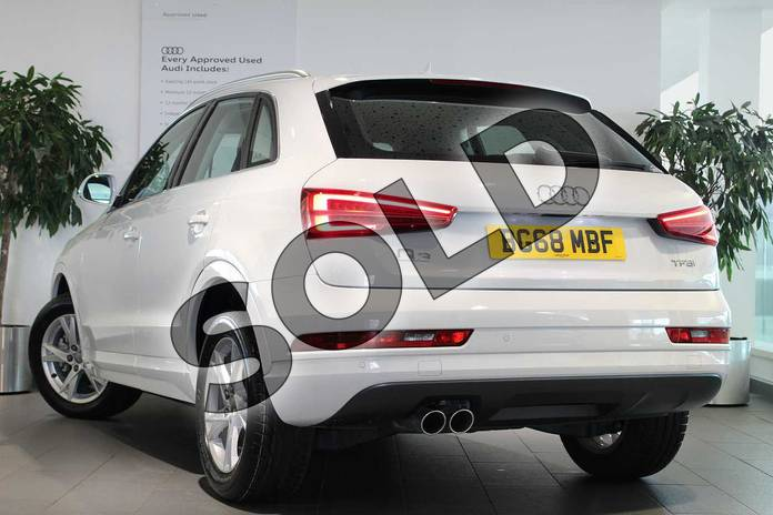 Image three of this 2018 Audi Q3 Estate 1.4T FSI Sport 5dr S Tronic in Glacier White Metallic at Birmingham Audi