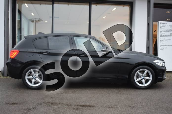 Image two of this 2018 BMW 1 Series Hatchback 118i (1.5) SE 5dr in Jet Black at Listers Boston (BMW)