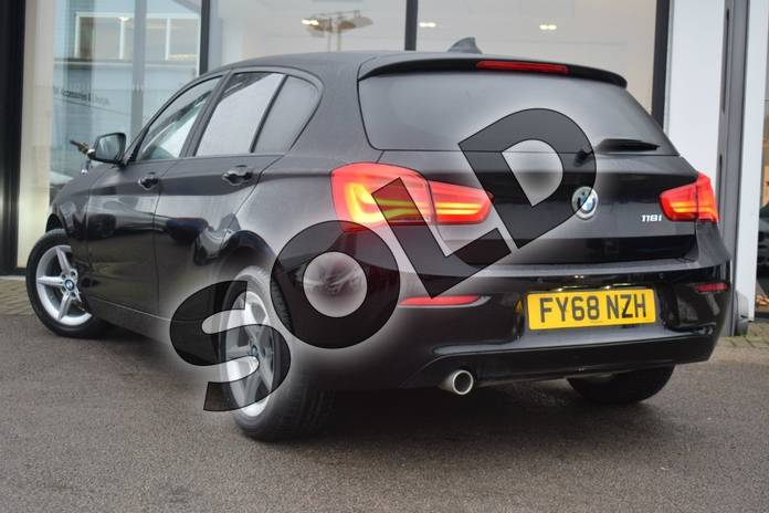 Image three of this 2018 BMW 1 Series Hatchback 118i (1.5) SE 5dr in Jet Black at Listers Boston (BMW)