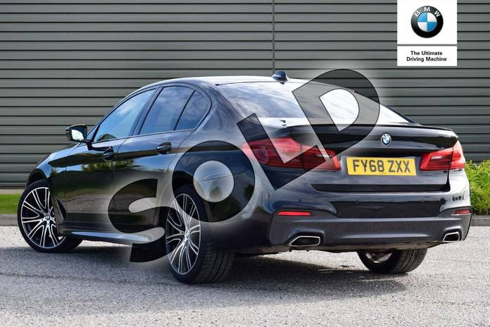 Image three of this 2018 BMW 5 Series Saloon 530i M Sport 4dr Auto in Black Sapphire metallic paint at Listers Boston (BMW)