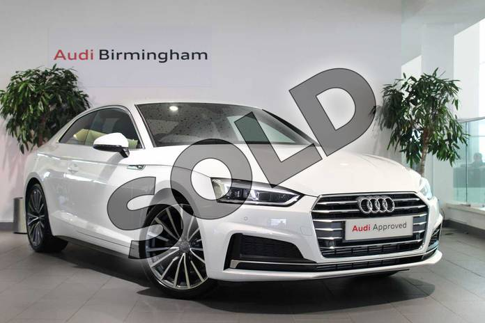 Picture of Audi A5 2.0 TFSI S Line 2dr S Tronic in Ibis White