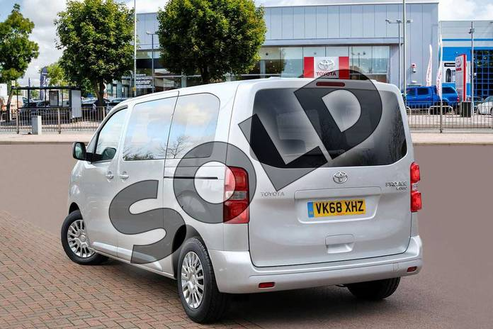 Image three of this 2018 Toyota PROACE VERSO Diesel Estate Diesel 1.6D Shuttle Medium 5dr in Aluminium Silver at Listers Toyota Cheltenham