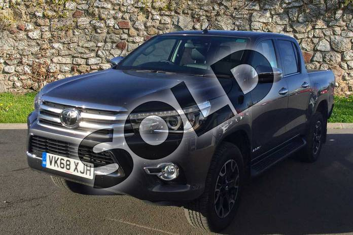 Image three of this 2018 Toyota Hilux Diesel Diesel Invincible X D/Cab Pick Up 2.4 D-4D in Decuma Grey at Listers Toyota Cheltenham