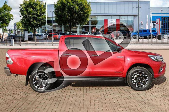Image five of this 2018 Toyota Hilux Diesel Diesel Invincible X D/Cab Pick Up 2.4 D-4D Auto in Crimson Red at Listers Toyota Cheltenham