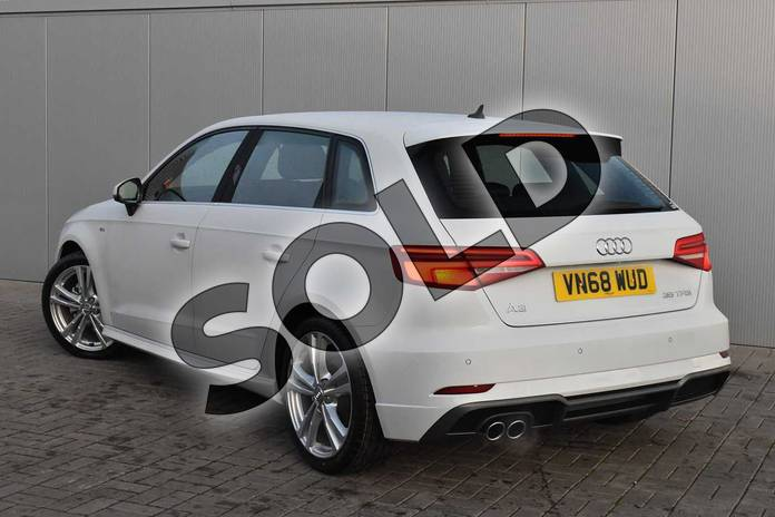 Image three of this 2018 Audi A3 Sportback 35 TFSI S Line 5dr in Glacier White Metallic at Stratford Audi