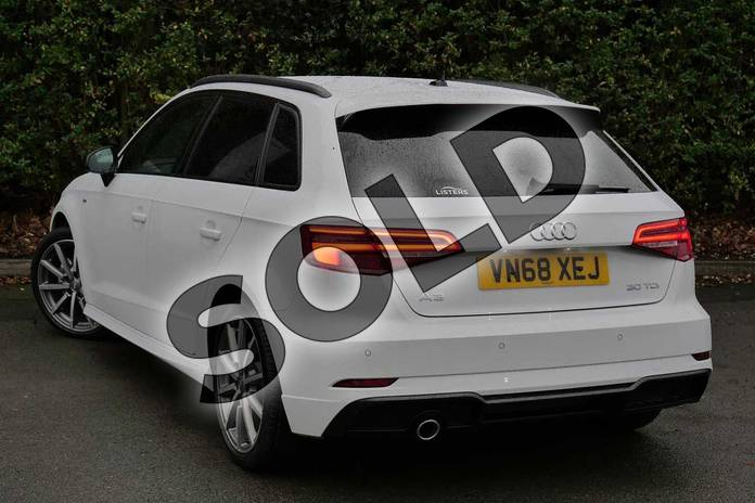 Image three of this 2018 Audi A3 Diesel Sportback Diesel 30 TDI 116 Black Edition 5dr in Glacier White Metallic at Worcester Audi