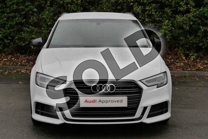 Image seven of this 2018 Audi A3 Diesel Sportback Diesel 30 TDI 116 Black Edition 5dr in Glacier White Metallic at Worcester Audi