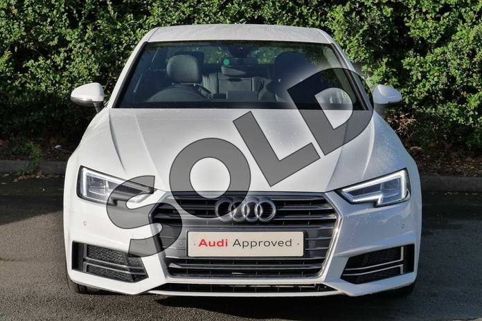 Image seven of this 2018 Audi A4 Saloon 2.0T FSI 252 Quattro S Line 4dr S Tronic in Glacier White Metallic at Coventry Audi