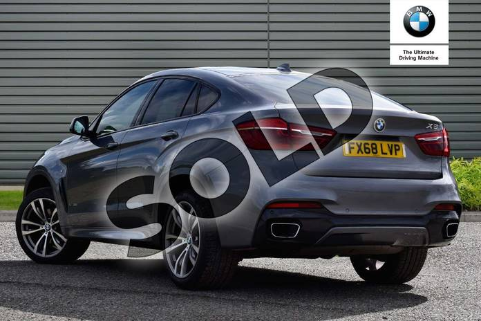 Image three of this 2018 BMW X6 Diesel Estate Diesel xDrive40d M Sport 5dr Step Auto in Space Grey at Listers Boston (BMW)