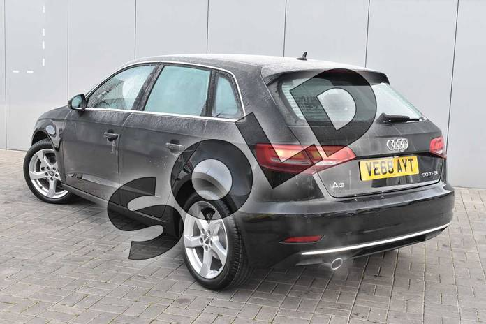 Image three of this 2018 Audi A3 Sportback 30 TFSI 116 Sport 5dr in Myth Black Metallic at Stratford Audi