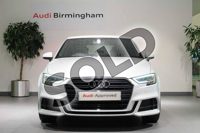 Image seven of this 2018 Audi A3 Sportback 30 TFSI 116 S Line 5dr in Glacier White Metallic at Birmingham Audi