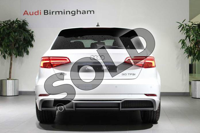 Image fifteen of this 2018 Audi A3 Sportback 30 TFSI 116 S Line 5dr in Glacier White Metallic at Birmingham Audi