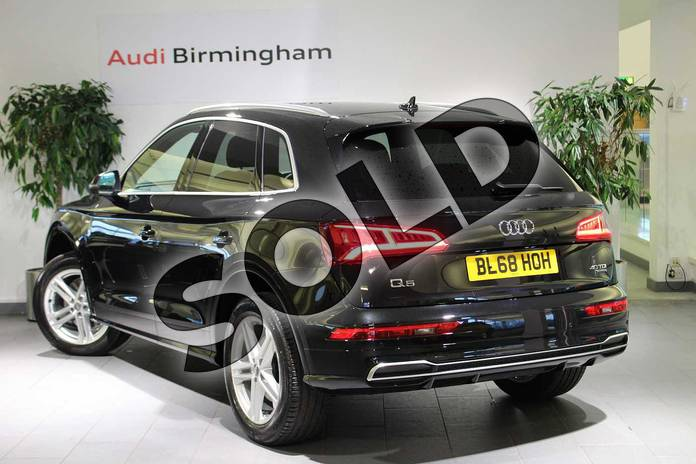 Image three of this 2018 Audi Q5 Diesel Estate Diesel 40 TDI Quattro S Line 5dr S Tronic in Myth Black Metallic at Birmingham Audi