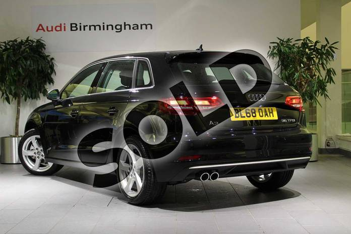 Image three of this 2018 Audi A3 Sportback 35 TFSI Sport 5dr S Tronic in Myth Black Metallic at Birmingham Audi
