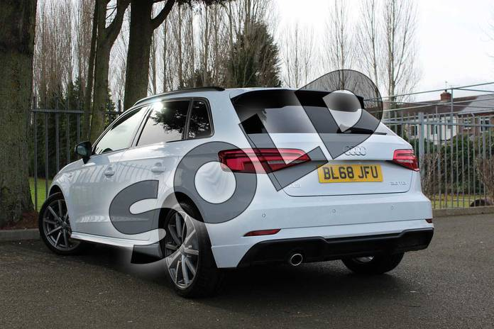 Image three of this 2018 Audi A3 Diesel Sportback Diesel 30 TDI 116 Black Edition 5dr in Glacier White Metallic at Coventry Audi