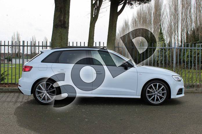 Image four of this 2018 Audi A3 Diesel Sportback Diesel 30 TDI 116 Black Edition 5dr in Glacier White Metallic at Coventry Audi
