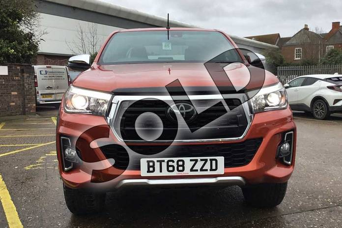 Image fifteen of this 2019 Toyota Hilux Special Editions Special Editions Invincible X Ltd Edn D/Cab Pick Up 2.4 D-4D Auto in scorched orange at Listers Toyota Coventry