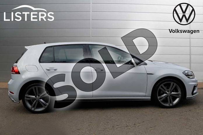 Image four of this 2019 Volkswagen Golf Hatchback 1.5 TSI EVO 150 R-Line 5dr DSG in White Silver at Listers Volkswagen Loughborough