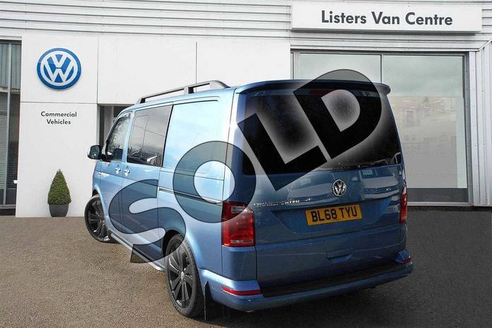 Image three of this 2019 Volkswagen Transporter T32 SWB Diesel 2.0 TDI BMT 150 Highline Kombi Van in Acapulco Blue Metallic Two Tone at Listers Volkswagen Van Centre Coventry