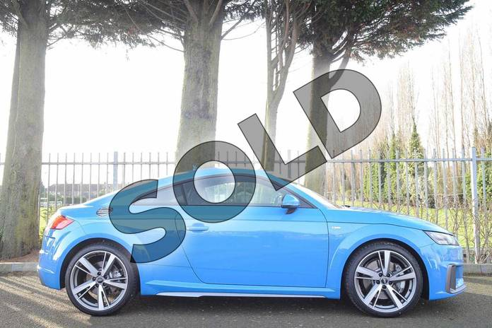Image four of this 2019 Audi TT Coupe 45 TFSI Quattro S Line 2dr S Tronic in Turbo Blue at Coventry Audi