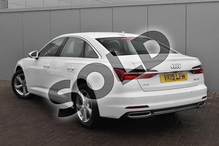 Image three of this 2019 Audi A6 Diesel Saloon Diesel 40 TDI Sport 4dr S Tronic in Ibis White at Stratford Audi