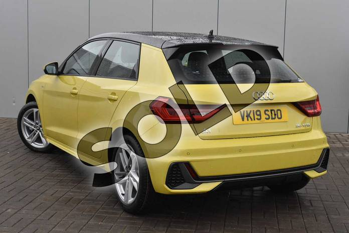 Image three of this 2019 Audi A1 Sportback 30 TFSI S Line 5dr in Python Yellow Metallic at Stratford Audi
