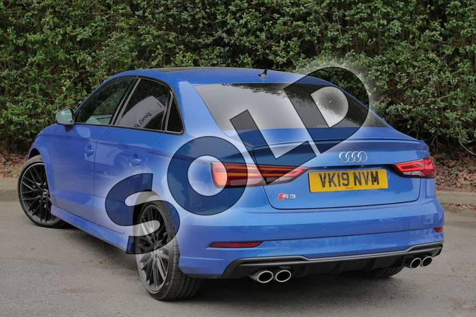 Image three of this 2019 Audi A3 Saloon S3 TFSI 300 Quattro Black Edition 4dr S Tronic in Ara Blue Crystal at Worcester Audi