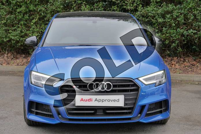 Image seven of this 2019 Audi A3 Saloon S3 TFSI 300 Quattro Black Edition 4dr S Tronic in Ara Blue Crystal at Worcester Audi