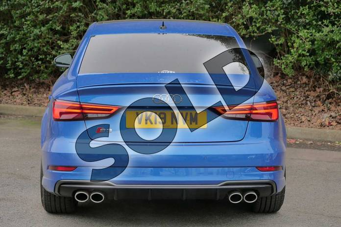 Image nine of this 2019 Audi A3 Saloon S3 TFSI 300 Quattro Black Edition 4dr S Tronic in Ara Blue Crystal at Worcester Audi