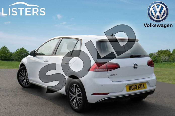 Image three of this 2019 Volkswagen Golf Diesel Hatchback Diesel 1.6 TDI SE 5dr DSG in Pure white at Listers Volkswagen Coventry
