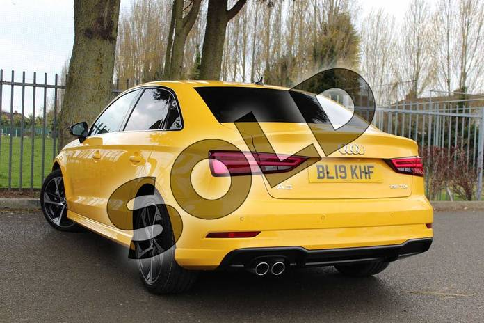 Image three of this 2019 Audi A3 Diesel Saloon Diesel 35 TDI Black Edition 4dr S Tronic in Vegas Yellow at Coventry Audi