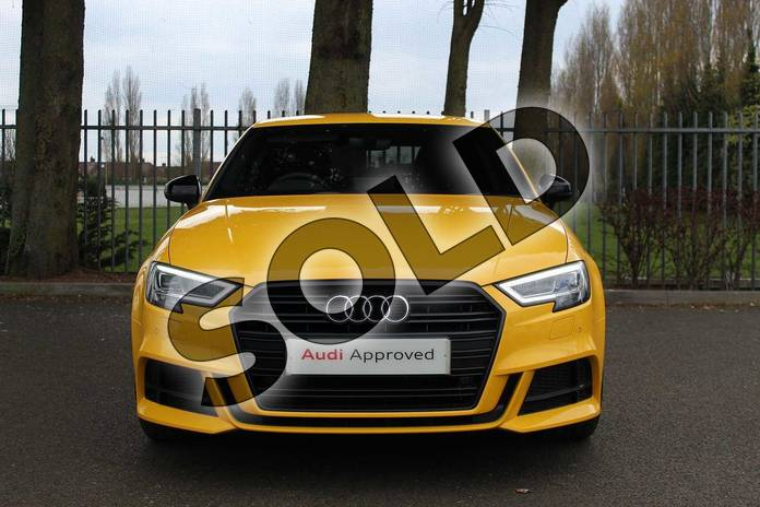 Image six of this 2019 Audi A3 Diesel Saloon Diesel 35 TDI Black Edition 4dr S Tronic in Vegas Yellow at Coventry Audi