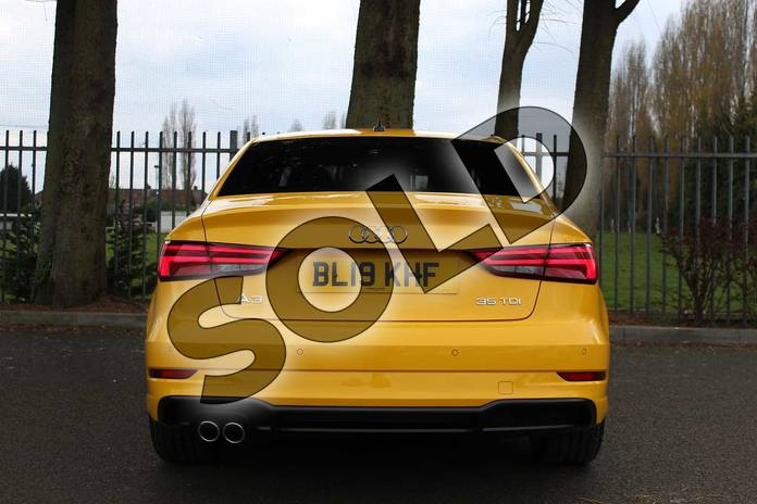Image eleven of this 2019 Audi A3 Diesel Saloon Diesel 35 TDI Black Edition 4dr S Tronic in Vegas Yellow at Coventry Audi