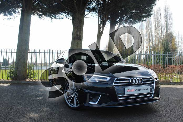 Picture of Audi A4 Diesel 40 TDI S Line 4dr S Tronic in Myth Black Metallic